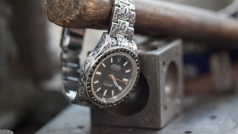 This Custom Rolex Milgauss Took 140 Hours To Intricately Engrave