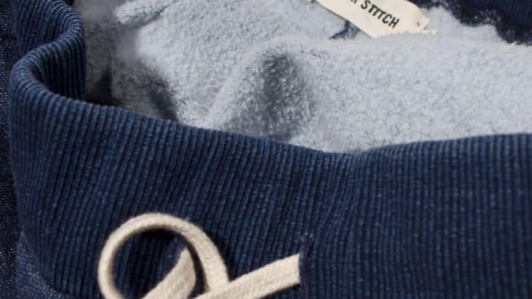 Get Cozy With These Sea Washed Indigo Fleece Sweatpants
