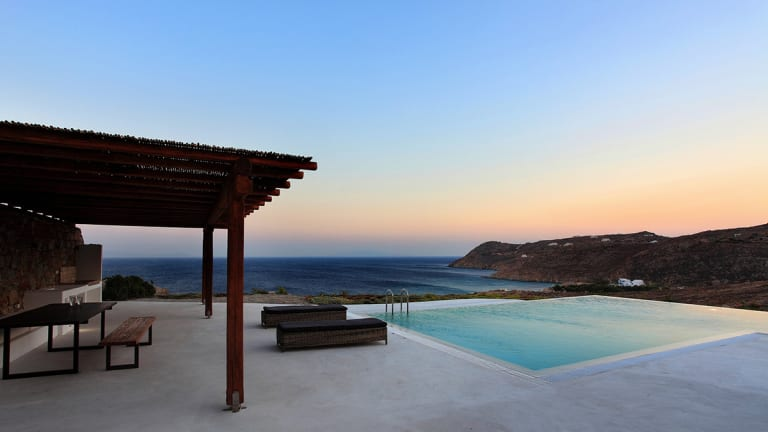 The Cliffside Mykonos Mansion Jay Gatsby Would Summer At