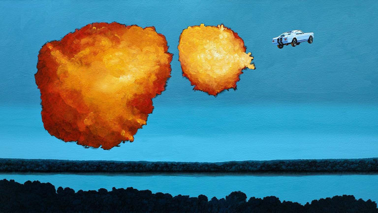 Upgrade Your Bachelor Pad With One Of These Explosive Car Paintings