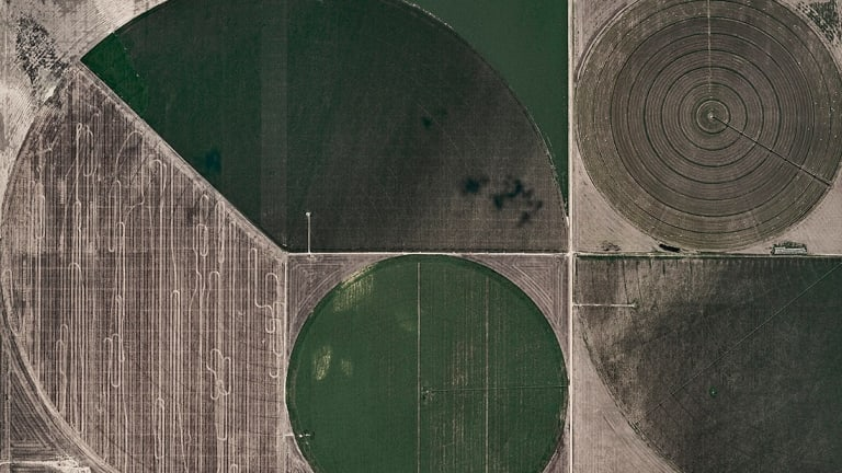 Gorgeously Geometric Aerial Photos Of Circle Irrigation