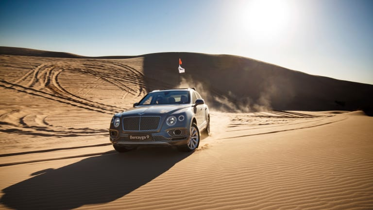 Sexy Photos Of A Bentley Bentayga Tearing Up Sand Dunes