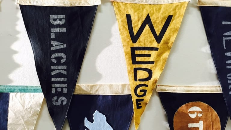These Handmade Salty Flags Pay Homage to Vintage Surf Culture