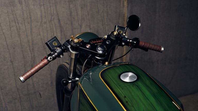 High Praise For This Custom Honda CX500 With A British Racing Green Makeup