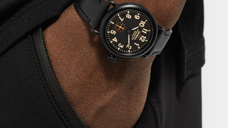 This All-Black-Everything PVD-Plated Shinola Watch Has Your Name On It