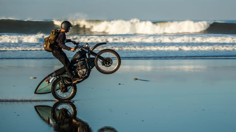 This Low-Key Surfboard-Clad Motorcycle Is Perfect For Summer Beach Trips