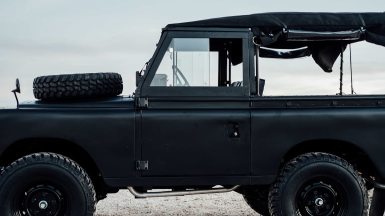 This Blacked-Out Vintage Land Rover Is Incredible