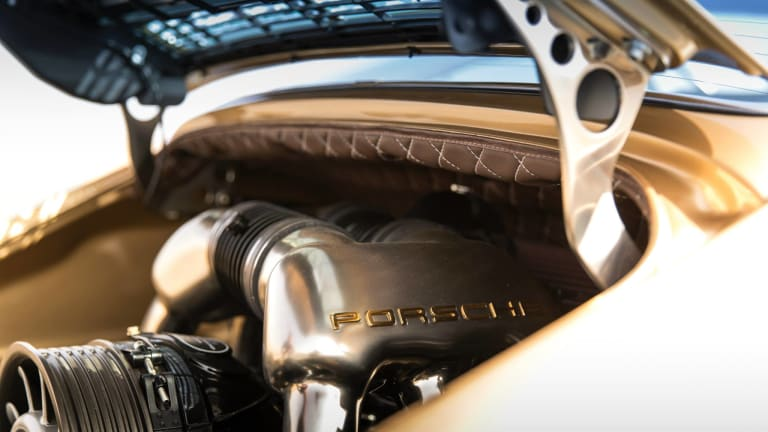 8 Stunning Photos Of A Custom Gold Porsche