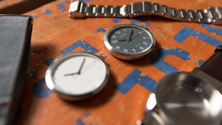 This Stylish Watch Features Interchangeable Inserts And Quick-Change Straps For Just $129
