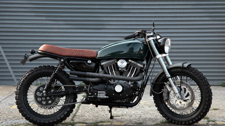 A Custom Harley Davidson Scrambler That Looks Like Something Steve McQueen Would Ride