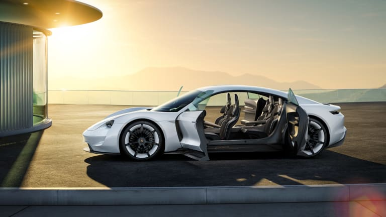 A Closer Look At The Futuristic Interior Of Porsche's All-Electric Tesla Crusher