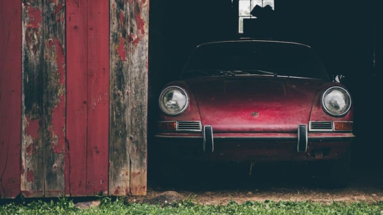 A Lucky Somebody Found This Abandoned 1967 Porsche 911S In A Barn
