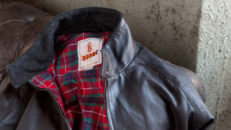 Baracuta Jacket Made Famous By Steve McQueen And James Dean Gets A Leather Update