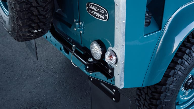 This Marine Blue Land Rover Defender 90 Is Simply Perfect