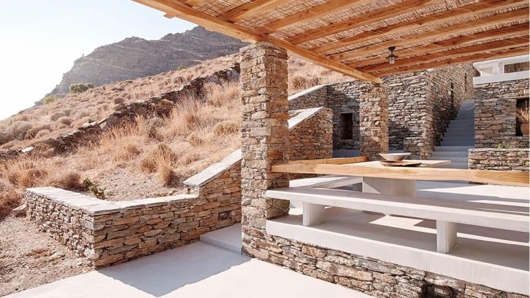 Inside and Outside a Stunning Greek Island Pad