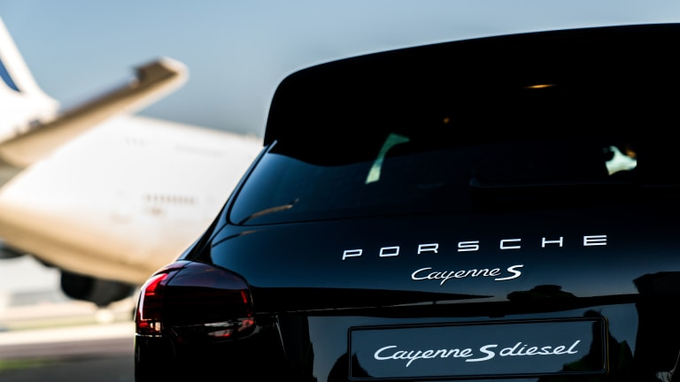 Watch a Porsche Successfully Tow the Largest Passenger Aircraft in the World
