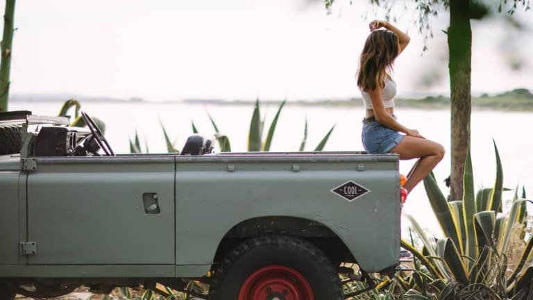 Nothing Goes Together Like a Gorgeous Girl and Land Rover Series III