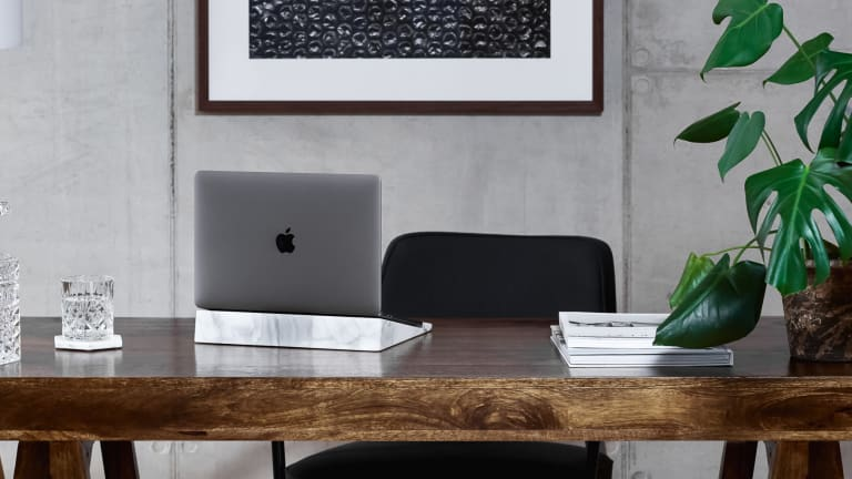 This Supremely Lux MacBook Stand Is Made of Solid Marble