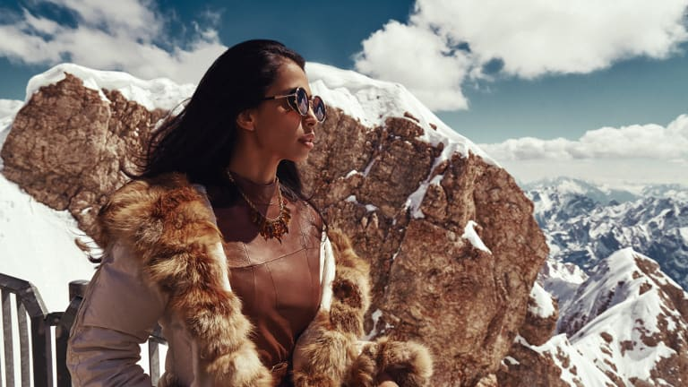 A Mountainside Model Scorches the Snowcaps In This Sexy Slopeside Shoot