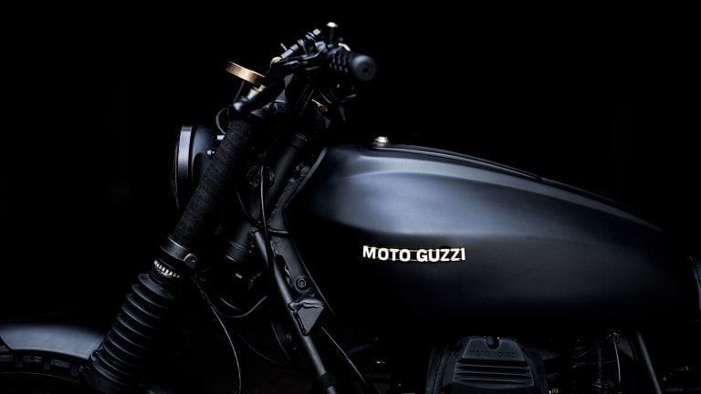 Batman's Murdered-Out Moto Guzzi