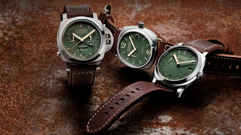 Panerai Unveils Limited Edition Green Dial Collection