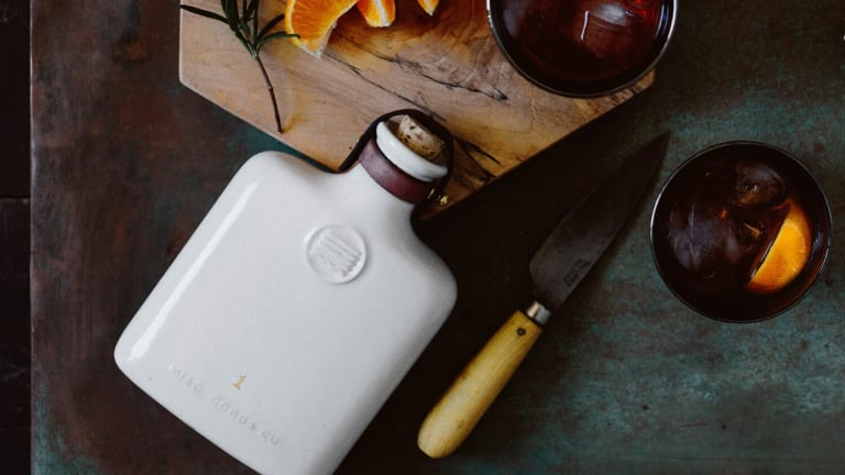 Sip in Style With This Beautiful Ceramic Flask