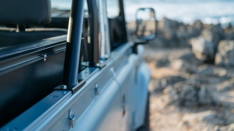 This Matte Blue Land Rover Defender Is Ridiculously Cool