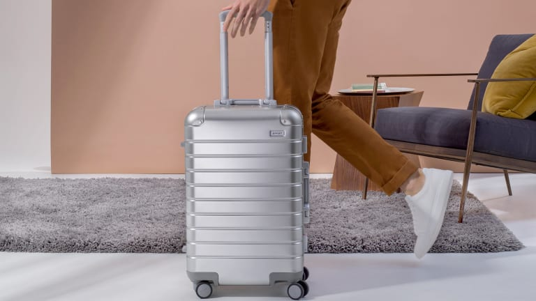 Drop Your Rimowa Lust for Away's Take on Aluminum Luggage