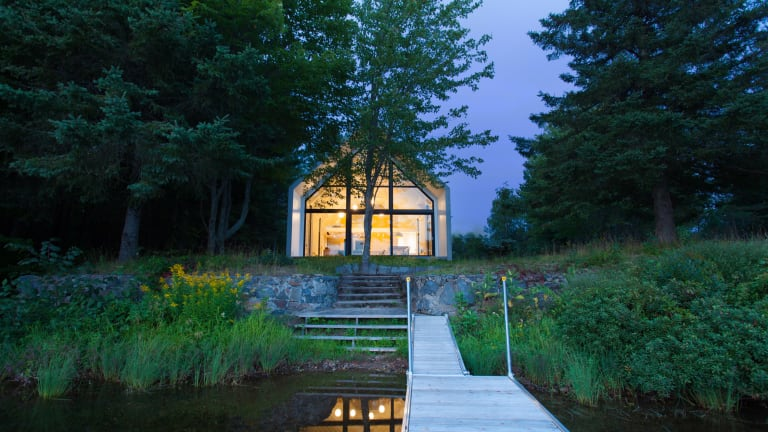 Tour a Dreamy Lakeside Cabin on the Shores of Lac Plaisant