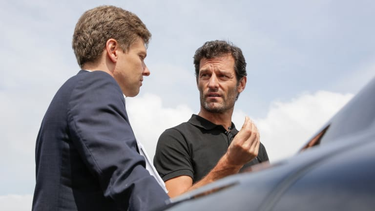 Watch Ex-Formula 1 Driver Mark Webber Test Drive the Porsche Mission E