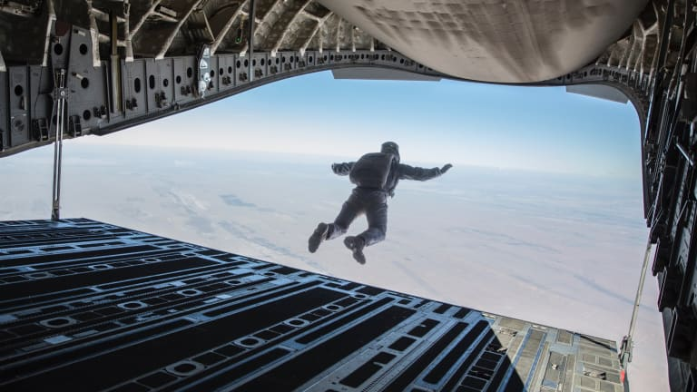 Watch Tom Cruise Perform a HALO Jump for 'Mission: Impossible—Fallout'