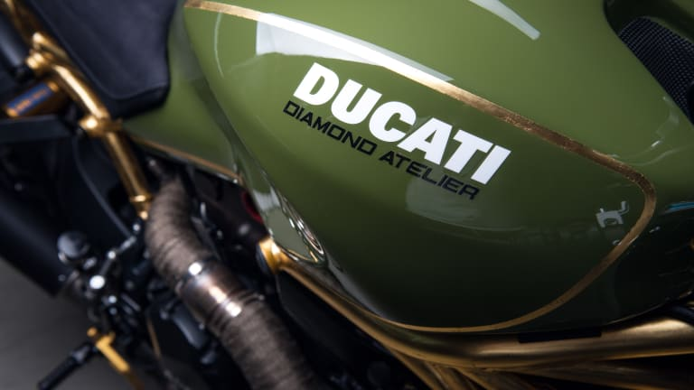 This Custom Ducati Monster 1200R Features Accents in 24K Gold