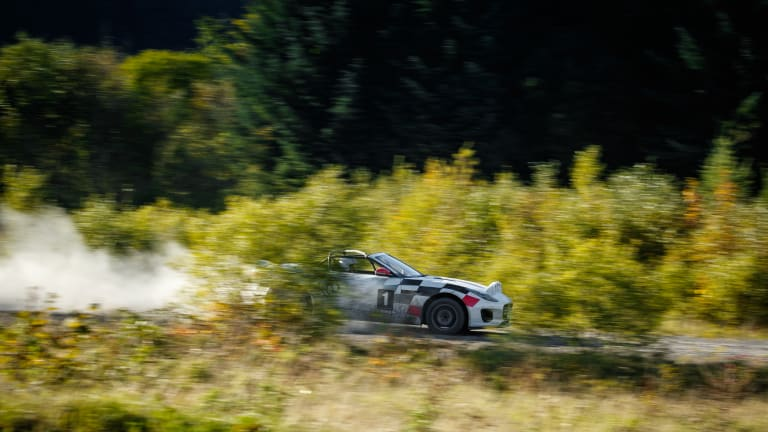 Jaguar's F-TYPE Convertible Rally Car Is Achingly Awesome