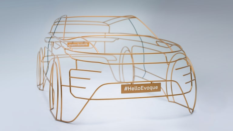 Check Out Land Rover's Modernist Wire Form Sculptures Teasing the Next-Gen Evoque