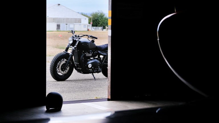 Meet Bruce Wayne's Blacked-Out Triumph Bonneville T120