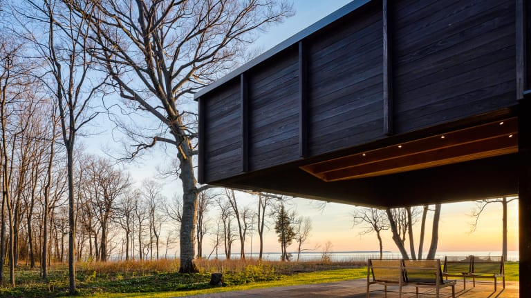 This Stunning Modern Home Rests Above Lake Michigan
