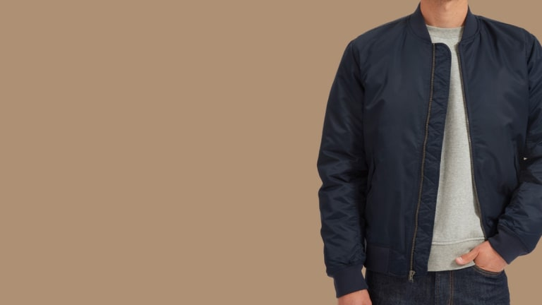 This Sleek Flight Jacket Will Set You Back Less Than $100