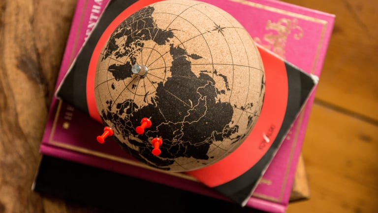 Track Your Adventures With This Stylish Cork Globe
