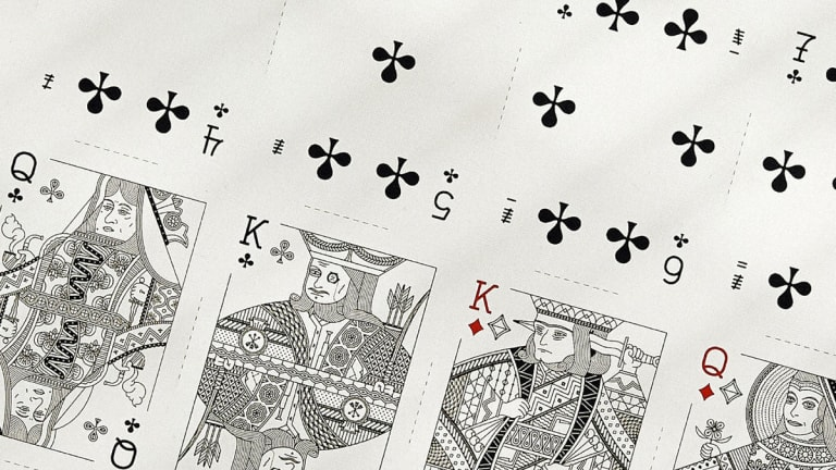 Uncut Playing Cards Make for Gorgeous Wall Art