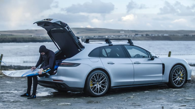 North Sea Surfing With the Porsche Panamera Turbo Sport Turismo