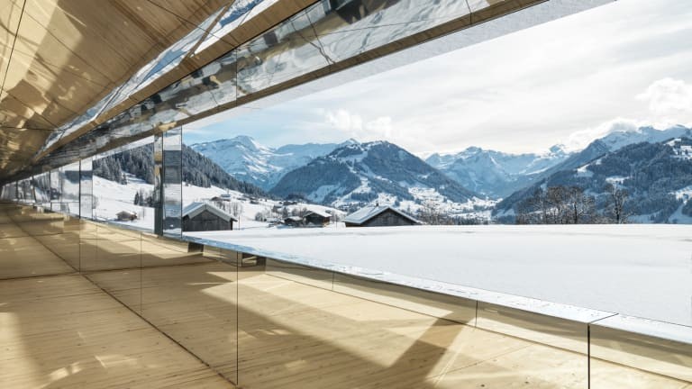Alpine Art: Doug Aitken's Mirrored House Reflects the Swiss Alps