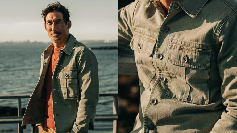 This Military-Inspired Shirt Jacket Is a New Take on Organic Cotton
