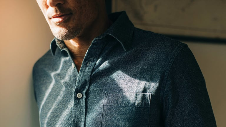 Why Washed Indigo Crepe is the Coolest New Shirting Fabric