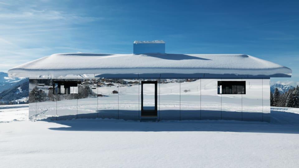 Alpine Art: Doug Aitken's Mirrored House Reflects the Swiss Alps