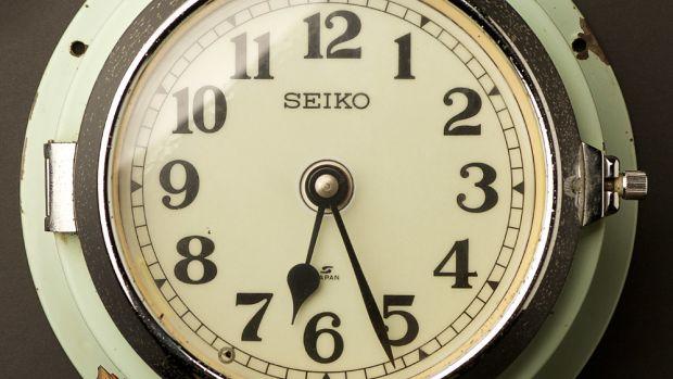 Seiko-slave-clock-blue