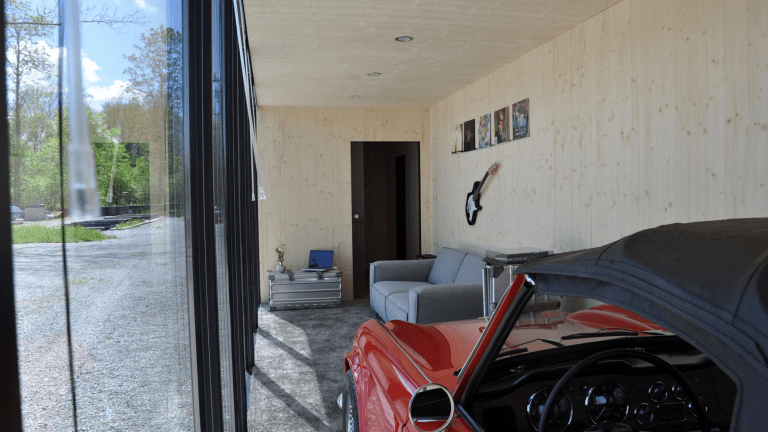 Someone Turned a Shipping Container Into the Drool-Worthiest Man Cave