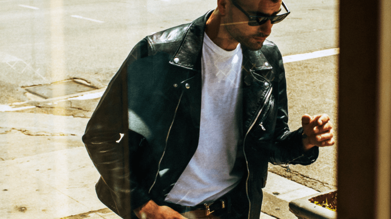 This Cool Moto Jacket Has a Lived-In Feel Right from the Start