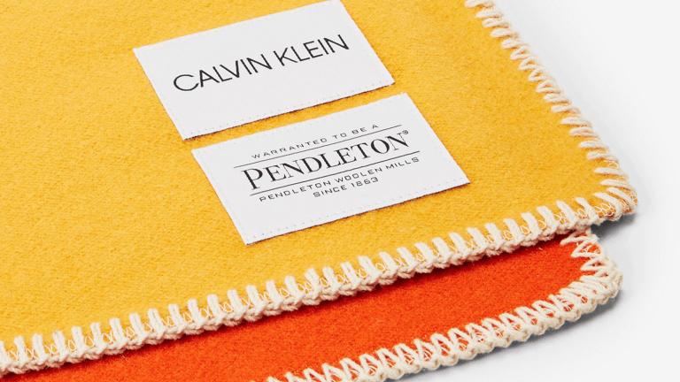 The Calvin Klein x Pendleton Blanket Has Statement-Making Style