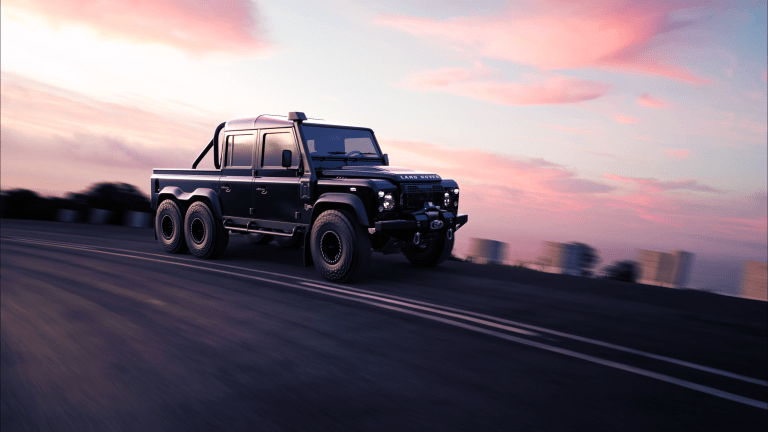 Car Porn: Custom 'Black Mamba' 1988 Land Rover Defender 6x6