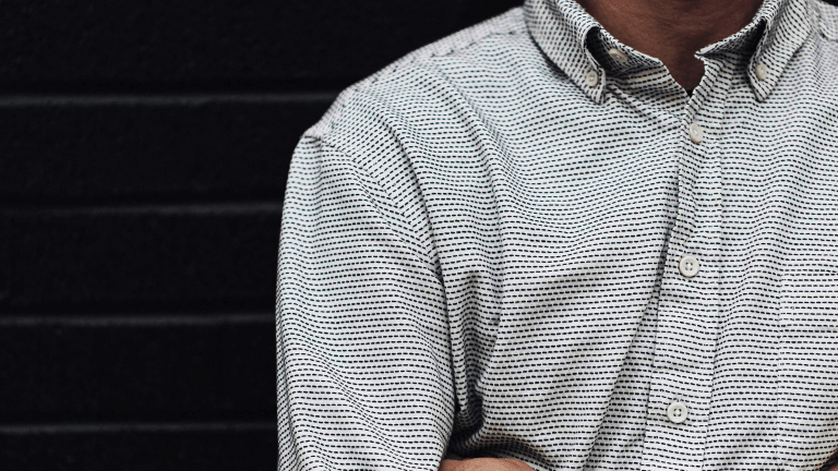 This Organic Cotton Reverse Jacquard Shirt is the Essence of Understated Elegance